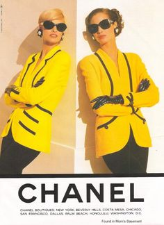 Vintage Chanel Advert Featuring Linda Evangelista