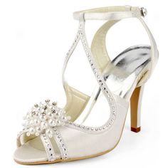 Complete your wedding day look with gorgeous wedding shoes in thousands of styles. Our bridal shoes collection include flat wedding shoes, wedding wedges, wedding heels and more. Cute Wedding Dress, Fall Wedding Dresses, Colored Wedding Dresses, Perfect Wedding, Dream Wedding, Prom Dresses, Rhinestone Wedding Shoes, Satin Wedding Shoes, Bridal Shoes