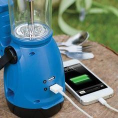 Dynamo LED Lantern with Built-In Dual USB Charger Ports - 3 Colors