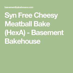Syn Free Cheesy Meatball Bake (HexA) - Basement Bakehouse Slimming World Meal Prep, Slimming World Pasta Bake, Skinny Recipes, My Recipes, Beef Recipes, Cooking Recipes, Healthy Recipes, Cheesy Meatballs, Meatball Bake