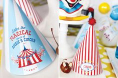 creative ways to set up table buffet | cute party hats are such a necessity for any children