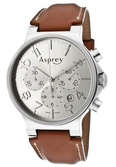 Asprey of London Men's Mother Of Pearl Dial Automatic Chronometer Watch With Chronograph & Date Silver Man, Watches For Men, Men's Watches, Chronograph, London, Luxury, British, List, Metallic