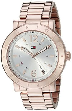Tommy Hilfiger Womens 1781621 Casual Sport Analog Display Quartz Rose GoldTone Stainless Steel Watch * Continue to the product at the image link.