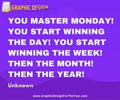 Enough ‪#‎Graphics‬ for the Entire ‪#‎Year‬! 520! No more ‪#‎Social‬ ‪#‎Media‬ ‪#‎Anxiety‬ ! We can help you be a social media guru! Fast! You master Monday! You start winning the day! You start winning the week! Then the month! Then the year! -Unknown - www.GraphicDesignfortheYear.com