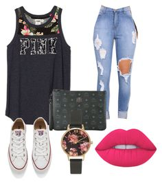 """""""Untitled #43"""" by onlyyc on Polyvore featuring MCM, Converse, Lime Crime and Olivia Burton"""