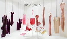 A view of our store in Barcelona.   Cortana - Moda ready to wear, vestidos de fiesta, trajes de novia y accesorios de la diseñadora Rosa Esteva para Cortana