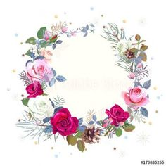 Ten Moments To Remember From Rose Store Hours Baby Food Jar Crafts, Red And Pink Roses, Flower Phone Wallpaper, Framed Wallpaper, Pine Branch, Rose Of Sharon, Frame Wreath, Round Frame, Background Vintage