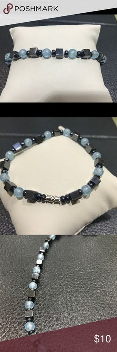 Hematite Bracelet, 7.5 inches long Hematite Bracelet with beads. Barrel clasp. Long 7.5 inches. alaskan heritage  Jewelry Bracelets