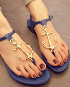 Adorable anchor style summer sandals... click on picture to see more