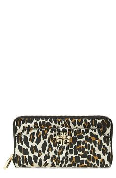 Tory Burch 'Plaque' Leopard Print Continental Wallet - Thank you Ty! Can't wait for it to get here this week!!!
