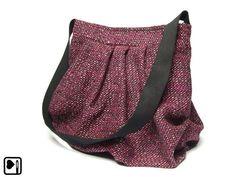 Ballontasche Tweed PINK von BELAINE Manufaktur auf DaWanda.com