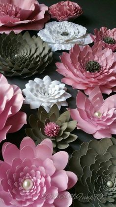 Nursery Large Paper Flowers in the Colors of Your Choice