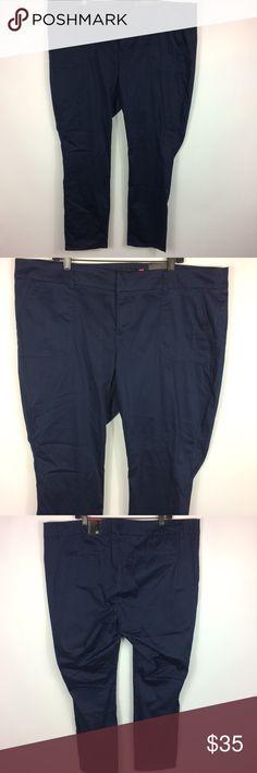 25de92f4675 Torrid Blue Sateen Pant Skinny Pants Plus Size 22 Torrid Navy Blue Sateen  Pant Skinny Pants