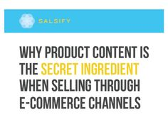 Salsify whitepaper on product content management