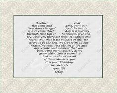 Birthday Poem Last Minute Gift Idea Digital INSTANT DOWNLOAD .JPG On Sale on Etsy, $4.99