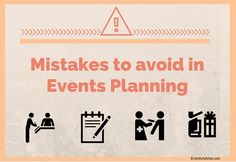 Mistakes You Should Avoid in Event Planning  http://eventsadvise.com/mistakes-you-should-avoid-in-event-planning/  #eventplanning #mistakes