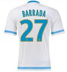 Maillot de foot Marseille Domicile 2015/2016 (27 Barrada) Blanc