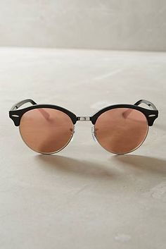 Ray-Ban Clubround Mirrored Sunglasses
