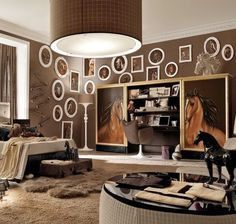 A beautiful room for fellow horse lovers!