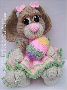 ❤ Ravelry: SA018 - Peeps Little Girl Bunny pattern by K4TT