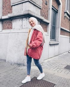 Modern Hijab Fashion, Muslim Women Fashion, Street Hijab Fashion, Hijab Fashion Inspiration, Modest Fashion, Fashion Outfits, Winter Outfits 2017, Modest Outfits, Modest Clothing