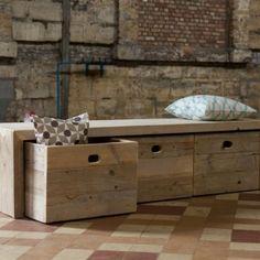 Opbergbank steigerhout van PURE Wood Design | Markita.nl