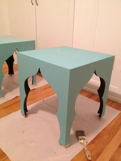 DIY Morrocan Side Table with mdf, step by step pictures