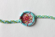 Under the Sea Dreamcatcher Bracelet | Ariel theme Disney Aqua & Red Dream Catcher Jewelry on Etsy