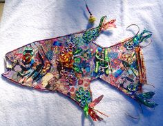 Found object Fish! #Upcycle and #Reuse old stuff! Make something bright and colorful!