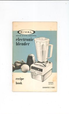 Vintage norelco food processor model hb 1115 instructions recipes rival electronic blender manual model 911 w1 with recipes vintage not pdf available in store forumfinder Images