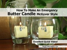 Emergency Butter Candle McGyver Style