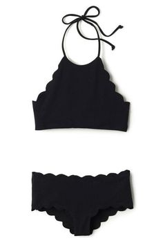 Black Scallop Ruched Tank Bikini Bathing Suits Related posts: Black And White Contrast Crochet Bikini Set Swimsuits, Swimwear … Summer Suits, Summer Wear, Spring Summer Fashion, Outfit Summer, Summer Ootd, Spring 2016, Cute Bathing Suits, Inspiration Mode, Fashion Clothes