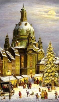 Christmas market in Dresden advent calendar ~ Germany