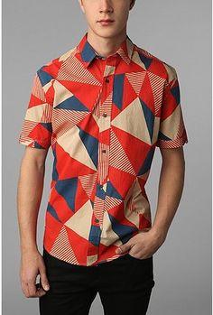 Shirts For All My Friends Noda Shirt - men's print shirt - urban outfitters Fashion Moda, Urban Fashion, Men's Fashion, Shirt Outfit, T Shirt, Dress Shirt, Vetements Clothing, Streetwear, Swagg