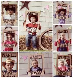 WANTED poster made from a cardboard box for a photo shoot prop at a cowboy/ cowgirl party by Shanna Mooneyham Lindemann
