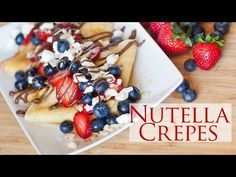 Nutella Crepes - Crepes Marseille - YouTube