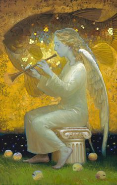 Angels by Victor Nizovtsev, painter of fables, fantasy, theatrical and imaginative art Victor Nizovtsev, Seraph Angel, Angel Images, I Believe In Angels, Angel Art, Sacred Art, Christian Art, Religious Art, Ikon