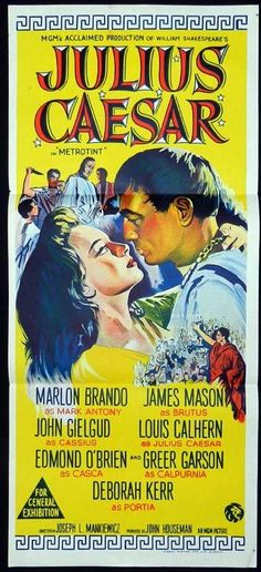 JULIUS CAESAR Marlon Brando James Mason RARE Daybill Movie poster