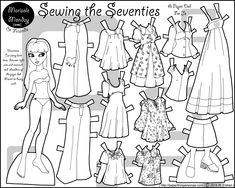 Marisole Monday Paper Dolls in Black and White | marisole-sewing-seventies-paper-doll-bw.png