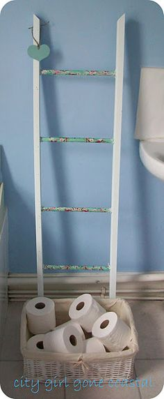Wrap fabric around rungs so towels don't get snagged