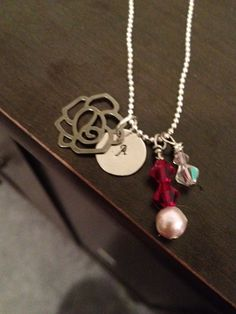 'Rose Monogram Necklace' is going up for auction at  8am Sun, Sep 16 with a starting bid of $8.