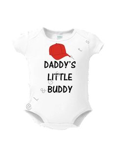 Baby bodysuit, Cute Baby Onsie Gift, Daddy's Little Buddy gift for baby, Baby shower gift, Boy baby onesie, Cute gift for baby boy shower
