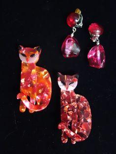 2 rare cat-pins, size: 5,5 cm Rare Cats, Cat Pin, Drop Earrings, Vintage, Jewelry, Fashion, Necklaces, Bangle Bracelet, Gemstones