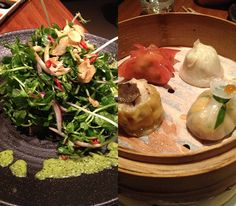 Dumplings and salad Novikov: Grand Scale Dining in Mayfair www.byoutifulyou.com/article/entertainment/2013/5/30/novikov-grand-scale-dining-in-mayfair #food #london #mayfiar