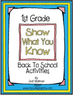 "1st Grade ""Show What You Know"" Back to School Activities"