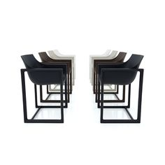 Wall Street Chair / Set of 4 by Vondom — France & Son Wall Street, Urban Nature, Outdoor Dining Chairs, Wall Bar, Vintage Art, Bar Stools, Bronze, Indoor, Black And White