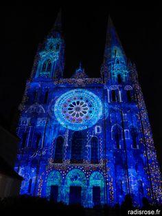 la véloscénie, Chartres en Lumières par radis rose