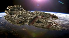 The ships of Battlestar Galactica are immortalized in thousands of LEGO bricks!