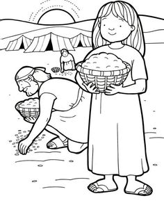 Manna and Quail Coloring and Maze - have some fun with the kids and teach them about the Bible