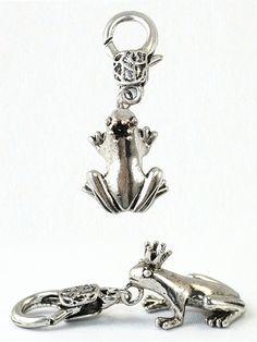 Damen Charm Anhänger Froschkönig von Fashion Jewelry bei www.meinkleidchen.de